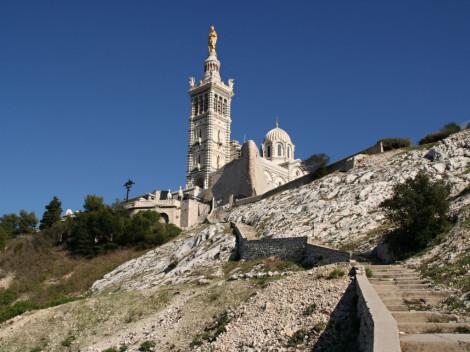 Marseille (Provence) a bazilika Notre Dame de La Garde